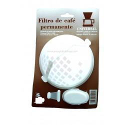 Filtro permanente nylon para cafetera. Tama_o 1x6