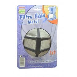 Filtro permanente rejilla metalica para cafetera. Tama_o 1x4